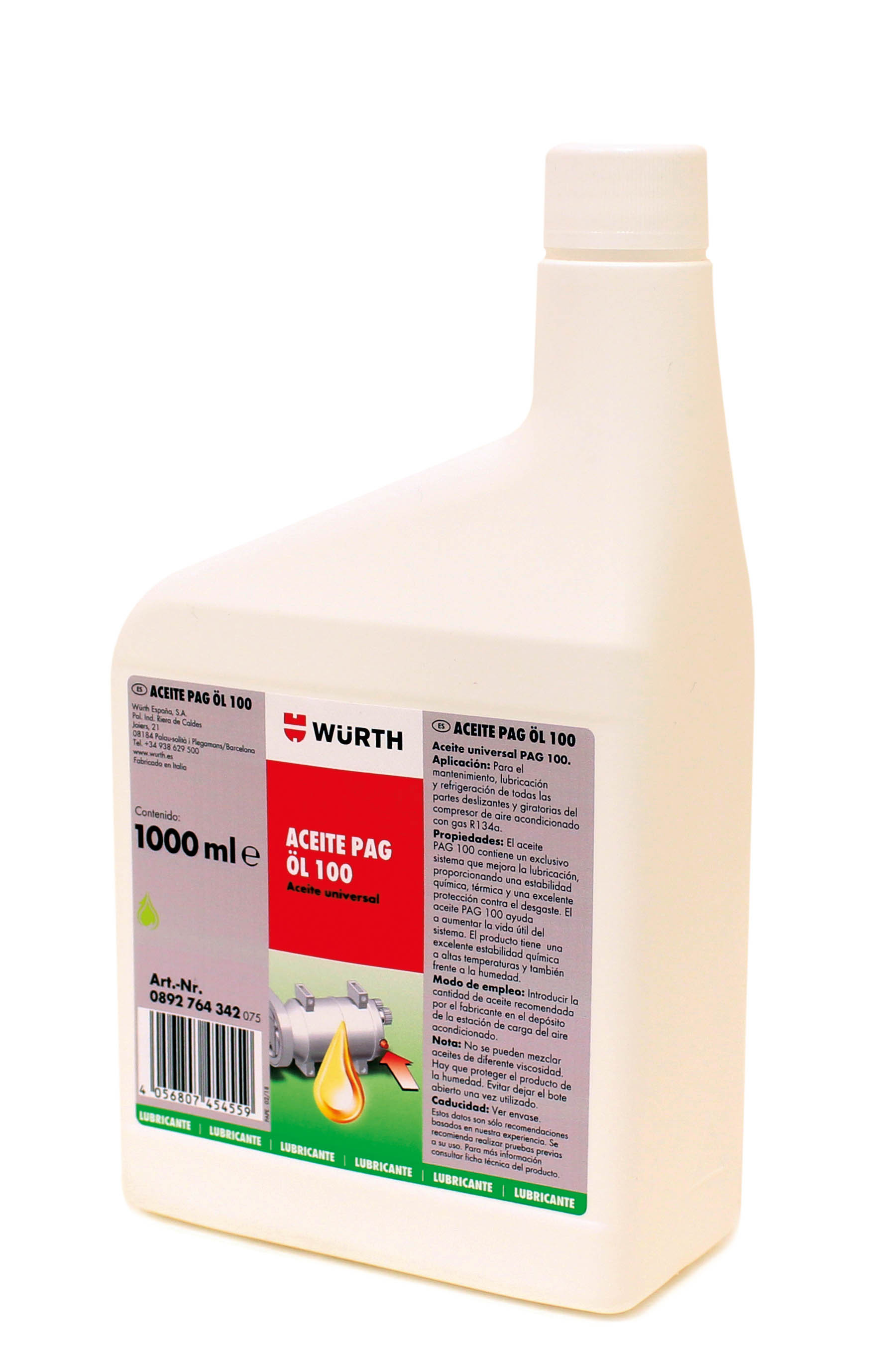 ACEITE PAG-OIL 100, 250 ML.