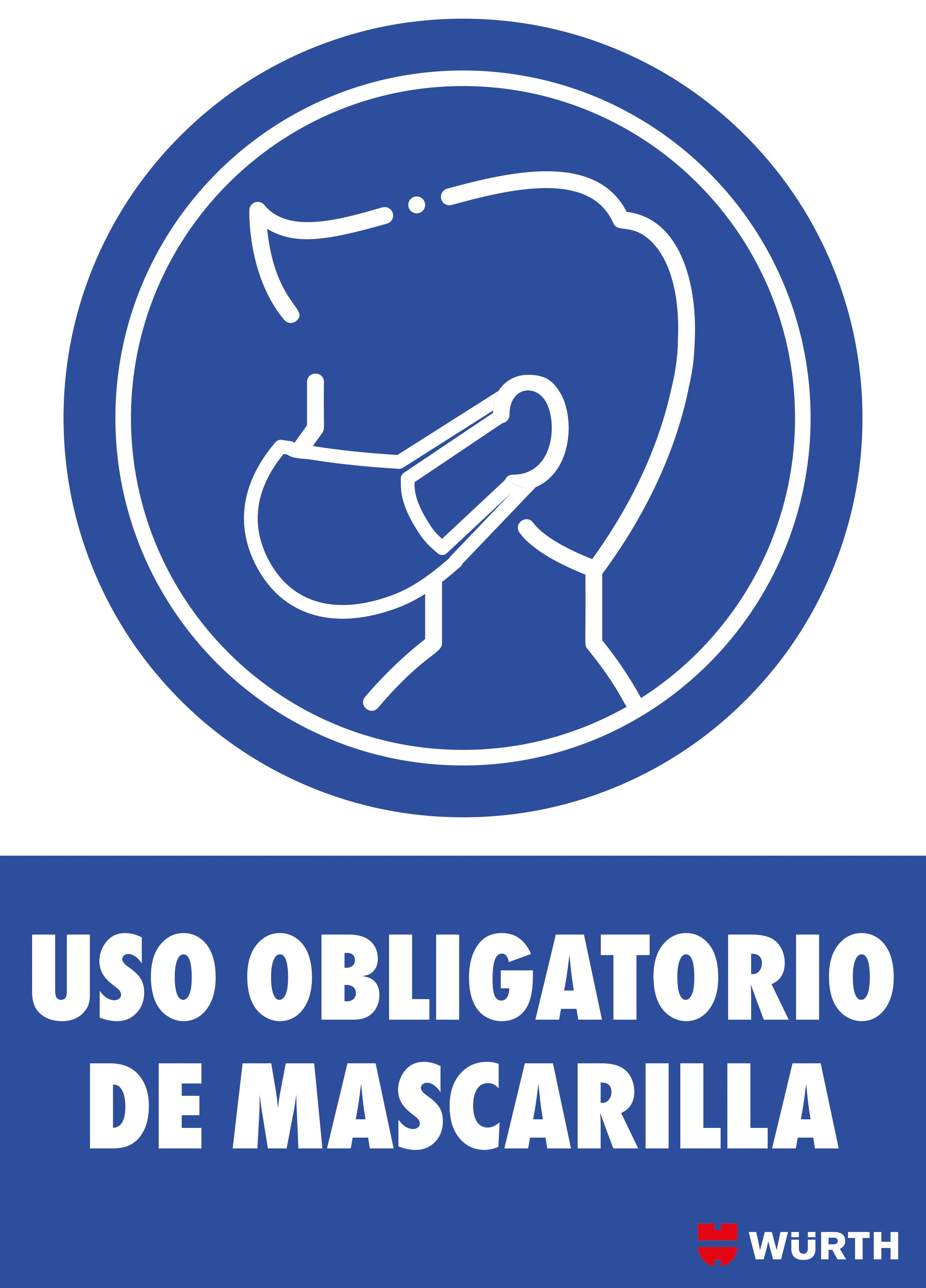 CARTEL USO OBLIGATORIO MASCARILLA