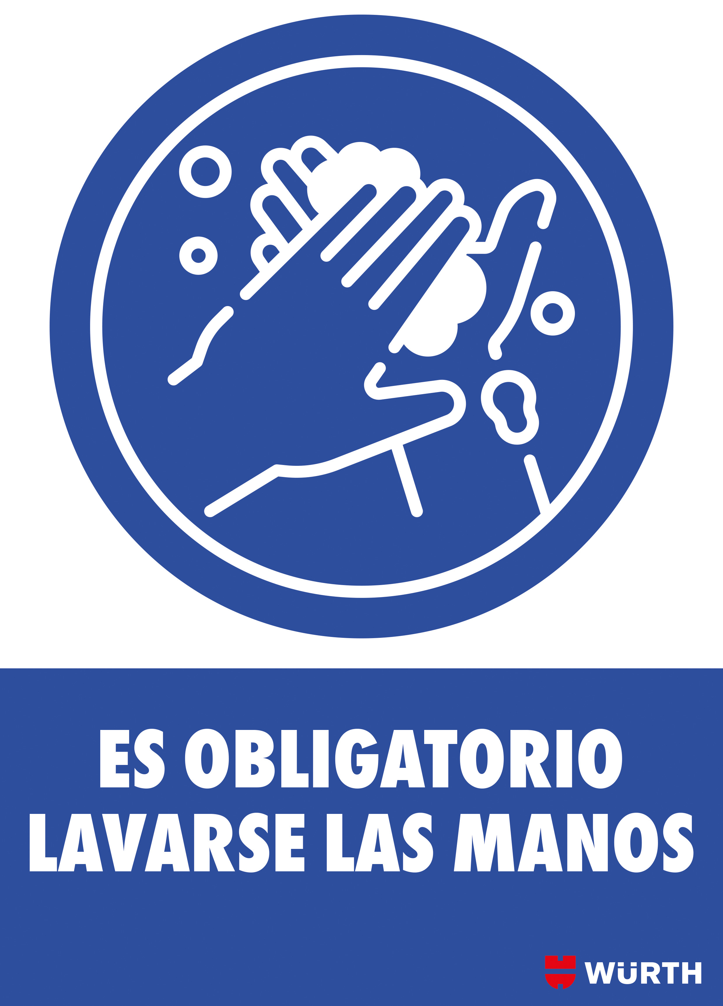 CARTEL OBLIGATORIO LAVARSE MANOS