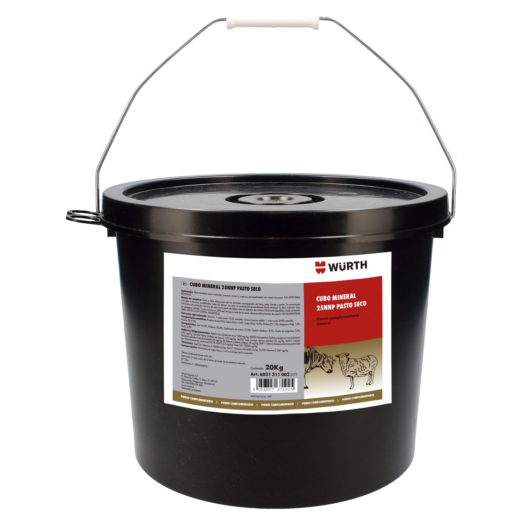 CUBO MINERAL 25NNP PASTO SECO 20KG