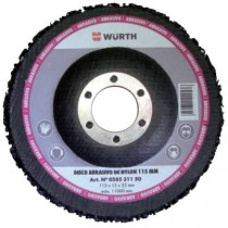 DISCO ABRASIVO DE NYLON PARA RADIAL D:115 MM