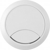 PASACABLES PARA MESAS Y MUEBLES COLOR BLANCO RAL 9010 60MM